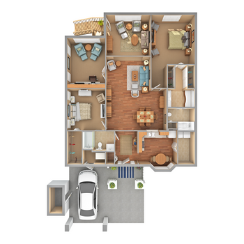 Floorplan of Carol Woods, Assisted Living, Nursing Home, Independent Living, CCRC, Chapel Hill, NC 19