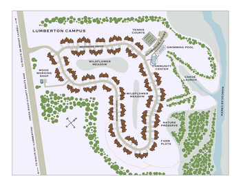 Campus Map of Medford Leas, Assisted Living, Nursing Home, Independent Living, CCRC, Medford, NJ 3