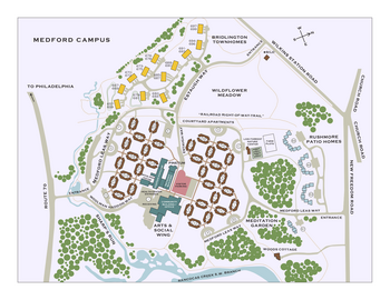 Campus Map of Medford Leas, Assisted Living, Nursing Home, Independent Living, CCRC, Medford, NJ 2
