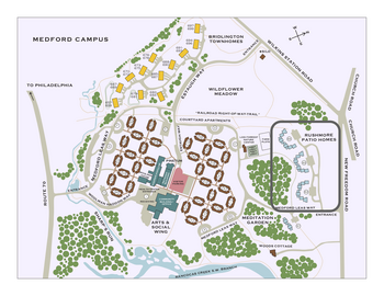 Campus Map of Medford Leas, Assisted Living, Nursing Home, Independent Living, CCRC, Medford, NJ 1