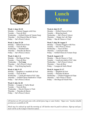 Dining menu of Wiley Christian Retirement Community, Assisted Living, Nursing Home, Independent Living, CCRC, Marlton, NJ 1