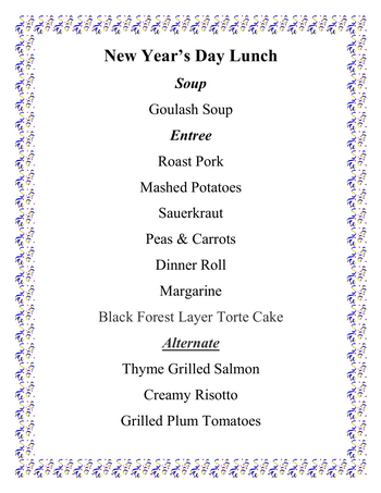 Dining menu of Altenheim, Assisted Living, Nursing Home, Independent Living, CCRC, Strongsville, OH 4