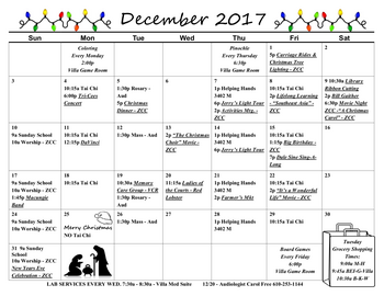 Activity Calendar of Fellowship Community, Assisted Living, Nursing Home, Independent Living, CCRC, Whitehall, PA 1