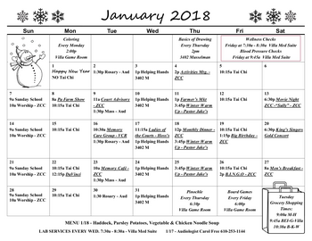 Activity Calendar of Fellowship Community, Assisted Living, Nursing Home, Independent Living, CCRC, Whitehall, PA 3
