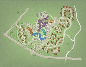 Campus Map of Woodcrest Villa, Assisted Living, Nursing Home, Independent Living, CCRC, Lancaster, PA 1
