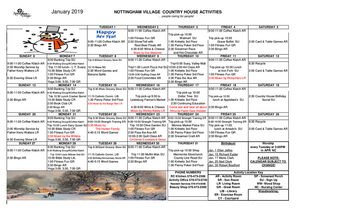 Activity Calendar of Nottingham Village, Assisted Living, Nursing Home, Independent Living, CCRC, Northumberland, PA 1