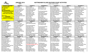 Activity Calendar of Nottingham Village, Assisted Living, Nursing Home, Independent Living, CCRC, Northumberland, PA 3