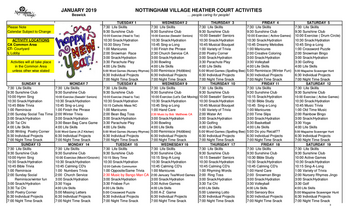 Activity Calendar of Nottingham Village, Assisted Living, Nursing Home, Independent Living, CCRC, Northumberland, PA 5