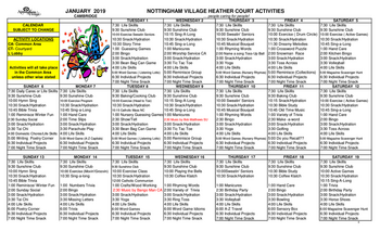 Activity Calendar of Nottingham Village, Assisted Living, Nursing Home, Independent Living, CCRC, Northumberland, PA 7