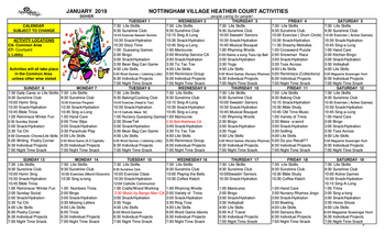 Activity Calendar of Nottingham Village, Assisted Living, Nursing Home, Independent Living, CCRC, Northumberland, PA 10
