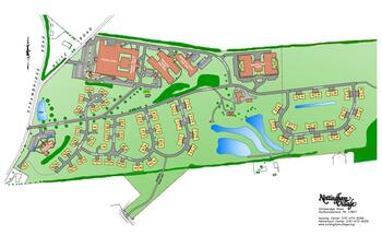 Campus Map of Nottingham Village, Assisted Living, Nursing Home, Independent Living, CCRC, Northumberland, PA 2