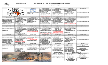 Activity Calendar of Nottingham Village, Assisted Living, Nursing Home, Independent Living, CCRC, Northumberland, PA 14