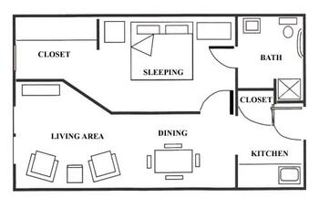 Floorplan of Bethel Lutheran Home, Assisted Living, Nursing Home, Independent Living, CCRC, Madison, SD 1