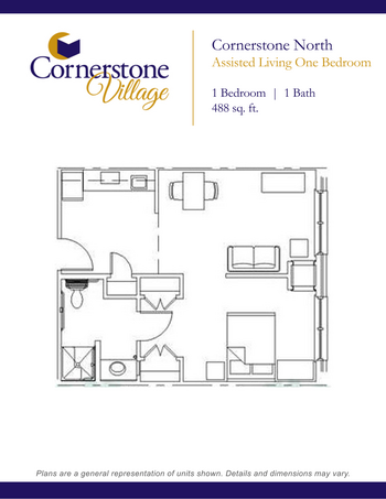 Floorplan of Cornerstone Village, Assisted Living, Nursing Home, Independent Living, CCRC, Johnson City, TN 1