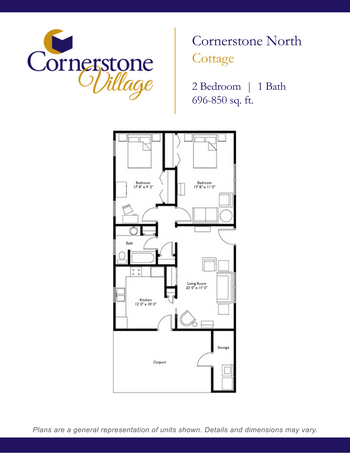 Floorplan of Cornerstone Village, Assisted Living, Nursing Home, Independent Living, CCRC, Johnson City, TN 2