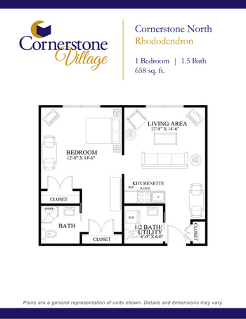 Floorplan of Cornerstone Village, Assisted Living, Nursing Home, Independent Living, CCRC, Johnson City, TN 5