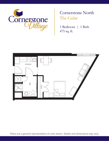 Floorplan of Cornerstone Village, Assisted Living, Nursing Home, Independent Living, CCRC, Johnson City, TN 6