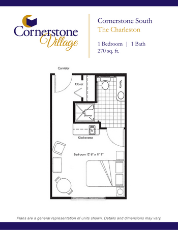 Floorplan of Cornerstone Village, Assisted Living, Nursing Home, Independent Living, CCRC, Johnson City, TN 7