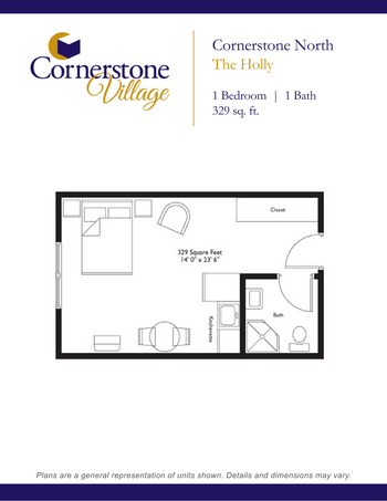Floorplan of Cornerstone Village, Assisted Living, Nursing Home, Independent Living, CCRC, Johnson City, TN 8