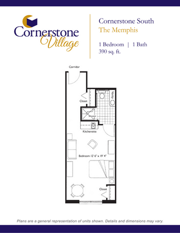 Floorplan of Cornerstone Village, Assisted Living, Nursing Home, Independent Living, CCRC, Johnson City, TN 9