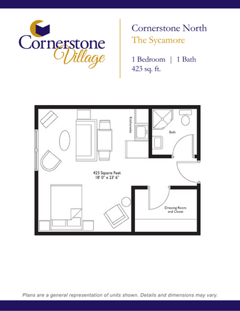 Floorplan of Cornerstone Village, Assisted Living, Nursing Home, Independent Living, CCRC, Johnson City, TN 10