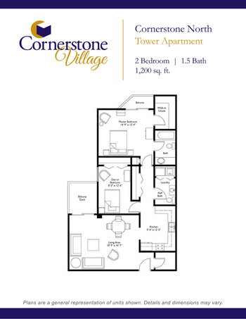 Floorplan of Cornerstone Village, Assisted Living, Nursing Home, Independent Living, CCRC, Johnson City, TN 11