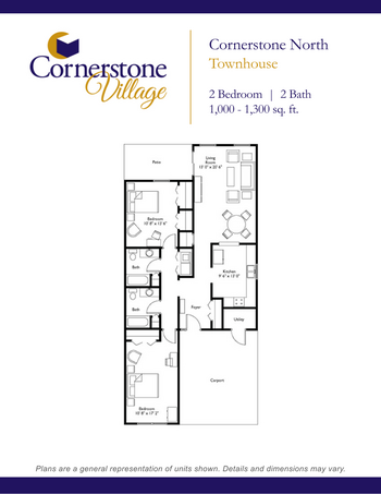 Floorplan of Cornerstone Village, Assisted Living, Nursing Home, Independent Living, CCRC, Johnson City, TN 12