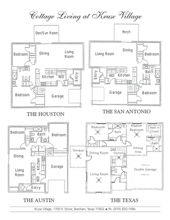 Floorplan of Kruse Village, Assisted Living, Nursing Home, Independent Living, CCRC, Brenham, TX 2