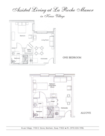Floorplan of Kruse Village, Assisted Living, Nursing Home, Independent Living, CCRC, Brenham, TX 3
