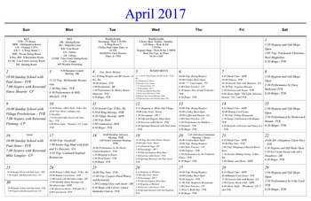 Activity Calendar of Masonic Home of Virginia, Assisted Living, Nursing Home, Independent Living, CCRC, Richmond, VA 1