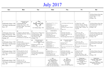 Activity Calendar of Masonic Home of Virginia, Assisted Living, Nursing Home, Independent Living, CCRC, Richmond, VA 6