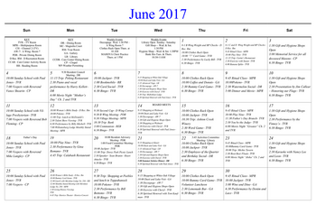 Activity Calendar of Masonic Home of Virginia, Assisted Living, Nursing Home, Independent Living, CCRC, Richmond, VA 7