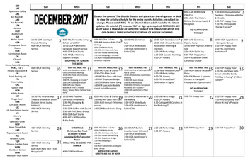 Activity Calendar of Rappahannock Westminster Canterbury, Assisted Living, Nursing Home, Independent Living, CCRC, Irvington, VA 2