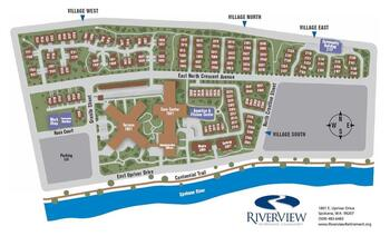Campus Map of Riverview Retirement Community, Assisted Living, Nursing Home, Independent Living, CCRC, Spokane, WA 1