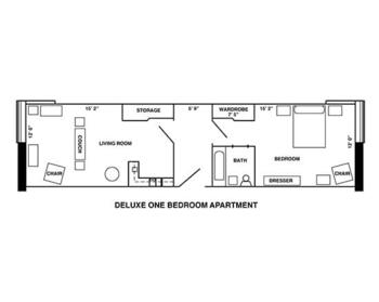 Floorplan of Riverview Retirement Community, Assisted Living, Nursing Home, Independent Living, CCRC, Spokane, WA 2