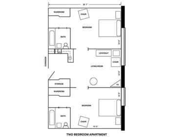 Floorplan of Riverview Retirement Community, Assisted Living, Nursing Home, Independent Living, CCRC, Spokane, WA 3
