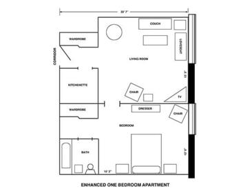 Floorplan of Riverview Retirement Community, Assisted Living, Nursing Home, Independent Living, CCRC, Spokane, WA 4