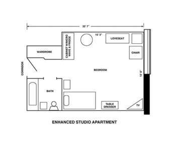 Floorplan of Riverview Retirement Community, Assisted Living, Nursing Home, Independent Living, CCRC, Spokane, WA 5