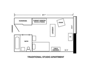 Floorplan of Riverview Retirement Community, Assisted Living, Nursing Home, Independent Living, CCRC, Spokane, WA 8