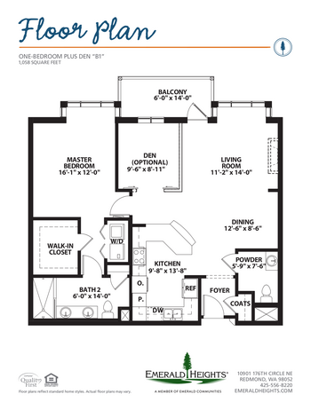 Floorplan of Emerald Heights, Assisted Living, Nursing Home, Independent Living, CCRC, Redmond, WA 1