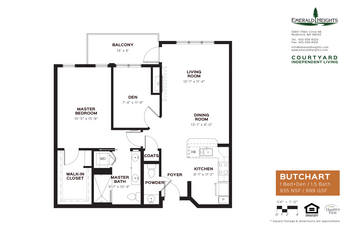 Floorplan of Emerald Heights, Assisted Living, Nursing Home, Independent Living, CCRC, Redmond, WA 6