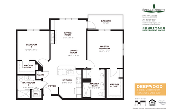 Floorplan of Emerald Heights, Assisted Living, Nursing Home, Independent Living, CCRC, Redmond, WA 8