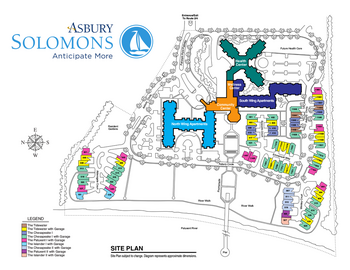 Campus Map of Asbury Solomons, Assisted Living, Nursing Home, Independent Living, CCRC, Solomons, MD 1