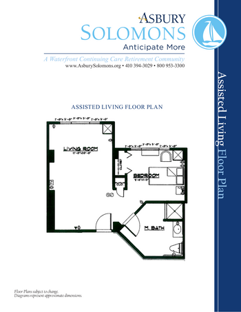 Floorplan of Asbury Solomons, Assisted Living, Nursing Home, Independent Living, CCRC, Solomons, MD 1