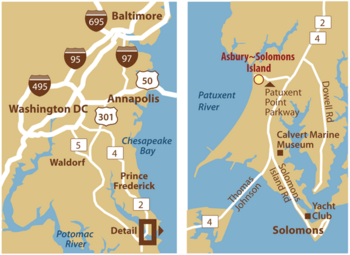 Campus Map of Asbury Solomons, Assisted Living, Nursing Home, Independent Living, CCRC, Solomons, MD 2