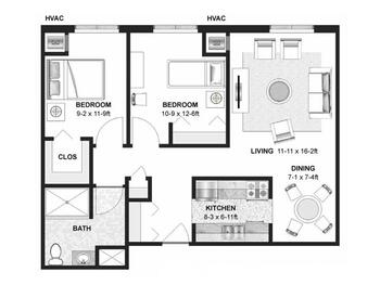 Floorplan of Augustana Chapel View Campus, Assisted Living, Nursing Home, Independent Living, CCRC, Hopkins, MN 4