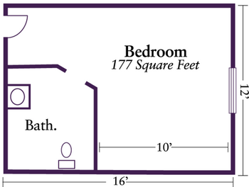 Floorplan of Nazareth Living Center, Assisted Living, Nursing Home, Independent Living, CCRC, St. Louis, MO 6