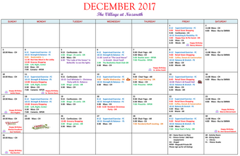Activity Calendar of Nazareth Living Center, Assisted Living, Nursing Home, Independent Living, CCRC, St. Louis, MO 7