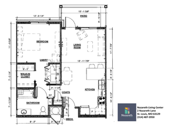 Floorplan of Nazareth Living Center, Assisted Living, Nursing Home, Independent Living, CCRC, St. Louis, MO 1