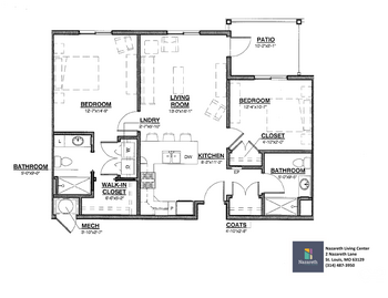 Floorplan of Nazareth Living Center, Assisted Living, Nursing Home, Independent Living, CCRC, St. Louis, MO 2